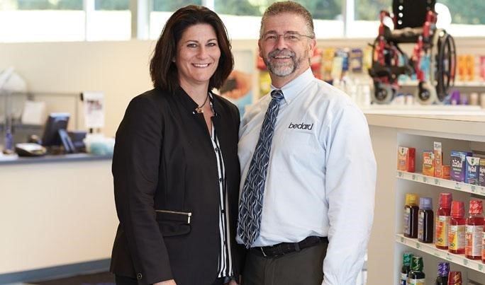 Annette and Michael Nadeau, owners of Bedard Pharmacy & Medical Supplies in Auburn and Lewiston, Maine