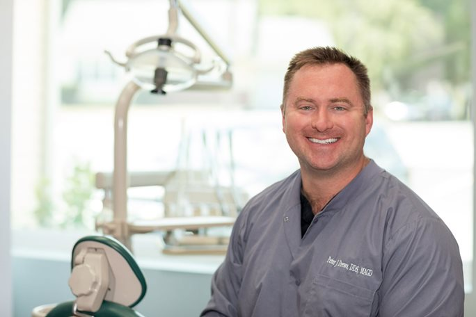 Peter Drews, owner of Drews Dental Services in Lewiston, Maine